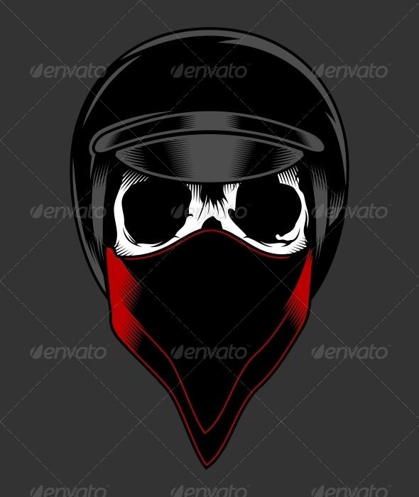GraphicRiver Biker Skull 5380493