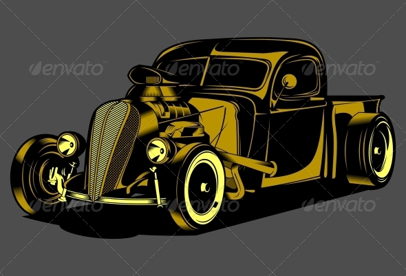 GraphicRiver Hotrod Car 5380511