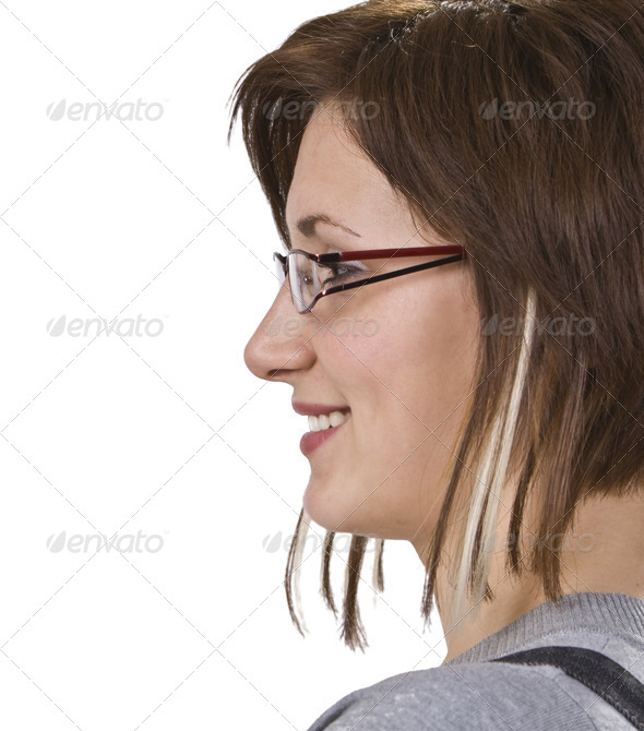 Profile of a Woman  - Stock Photo - Images