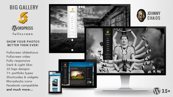 ThemeForest BIG Gallery WP Fullscreen Photography Portfolio 5351207