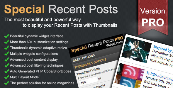 Special Recent Posts PRO - CodeCanyon Item for Sale
