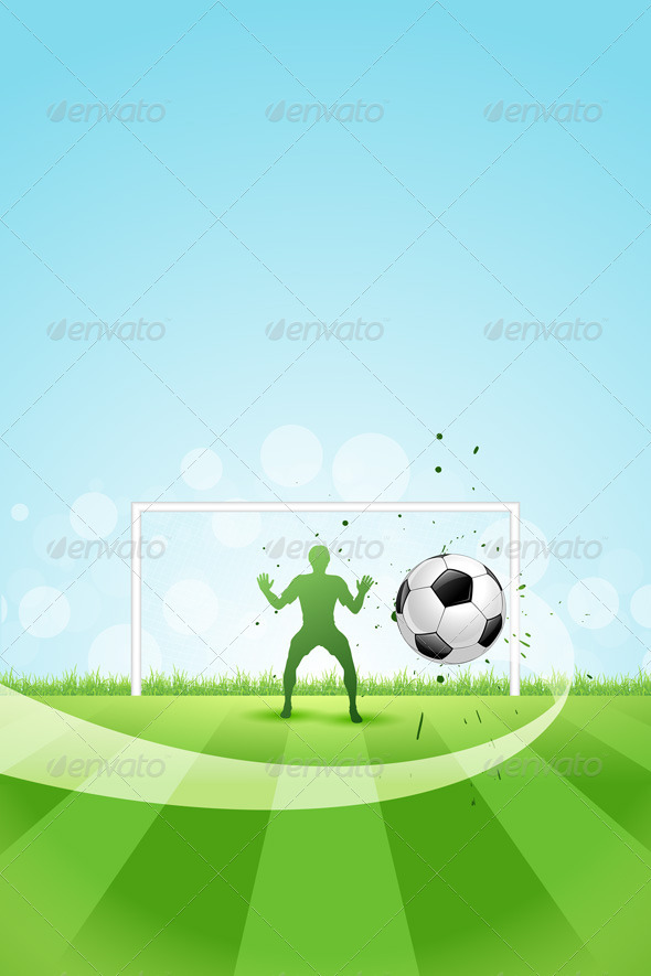 GraphicRiver Soccer Background with Goalkeeper and Ball 5380722