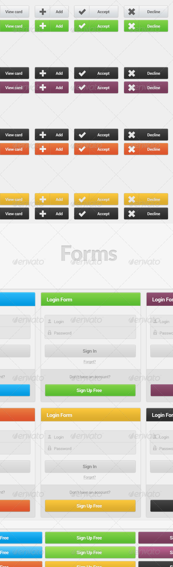 GraphicRiver Sleek Buttons and Forms 5363016