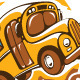 T-shirt design with school bus - GraphicRiver Item for Sale
