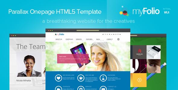 ThemeForest myFolio Parallax Onepage HTML5 Template 5377218