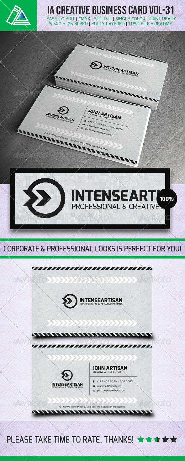 IntenseArtisan Business Card Vol.31 - Creative Business Cards