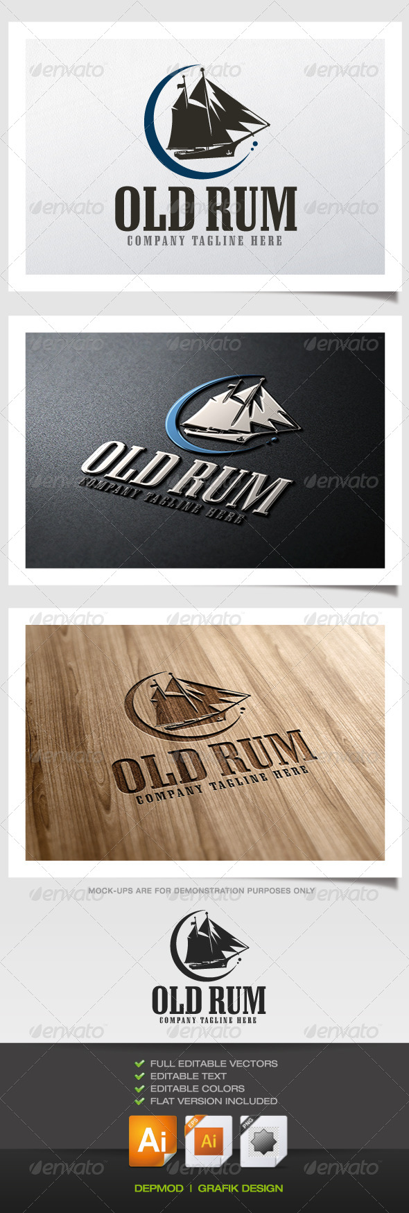 GraphicRiver Old Rum Logo 5381125