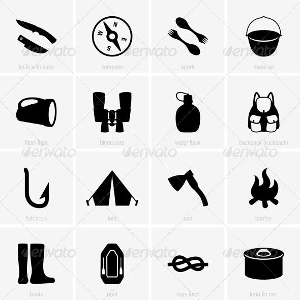 GraphicRiver Travel Object Icons 5381735
