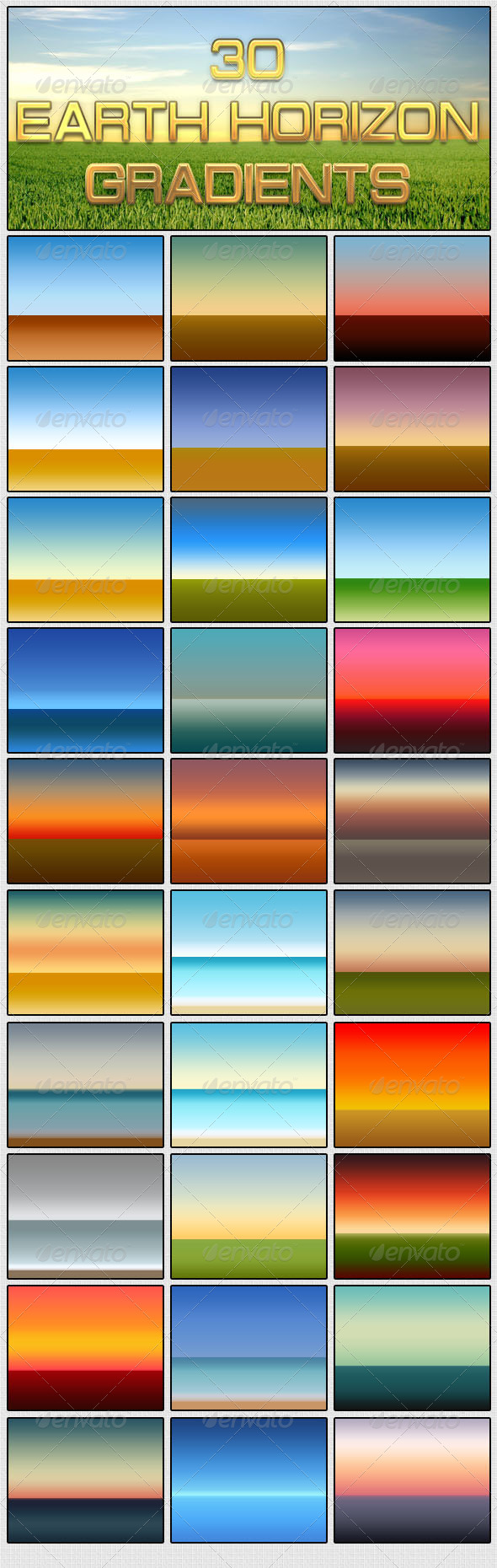 GraphicRiver 30 Earth Horizon Gradients 5382039