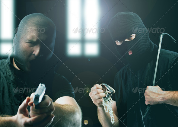 Masked thieves - Stock Photo - Images