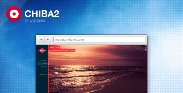 Chiba 2 is a full screen minimal theme developed for corporate and product websites. All bests trends in web development have been implemented in this theme: No