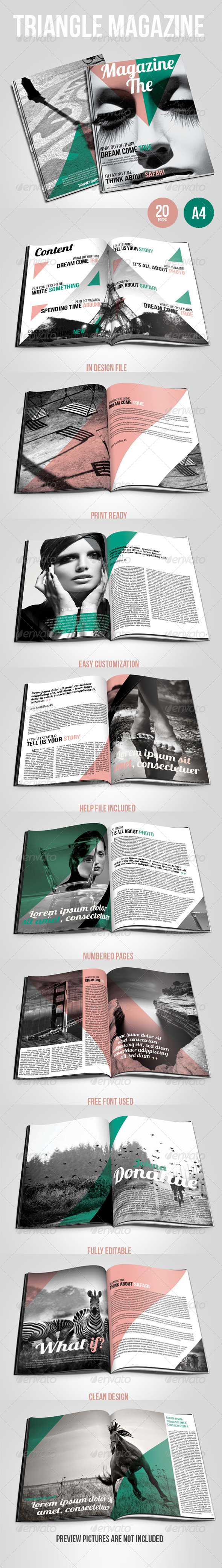 GraphicRiver Triangle Magazine 5382079