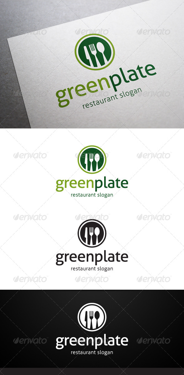 GraphicRiver Green Plate Logo 5382136