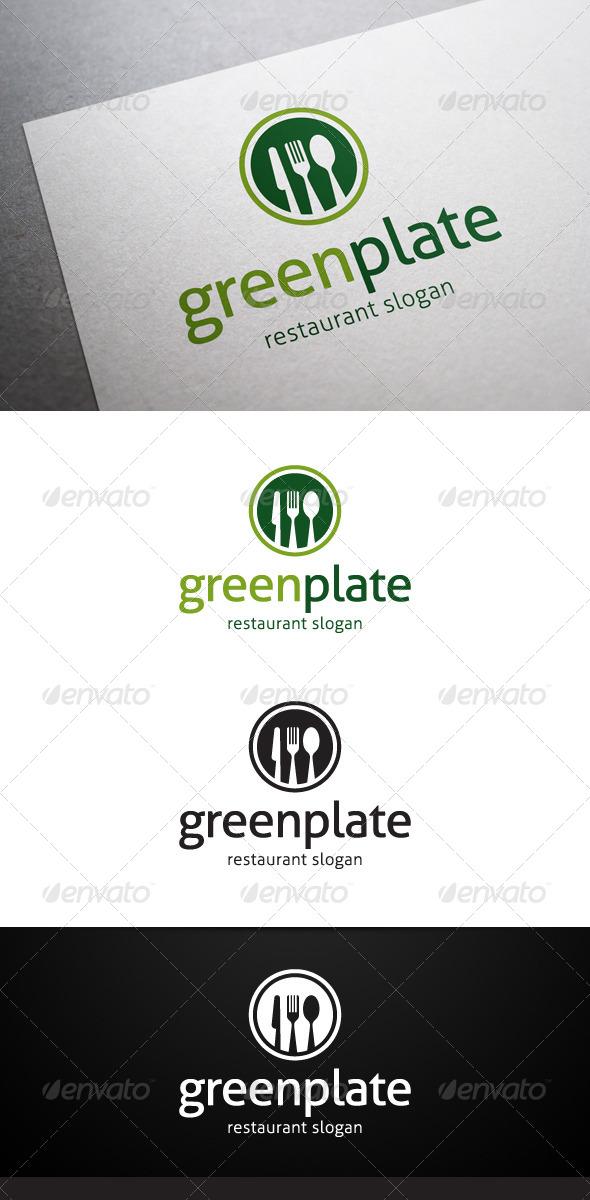 GraphicRiver Green Plate Logo 5382136