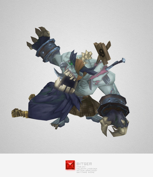 Low Poly Zombie King - 3DOcean Item for Sale