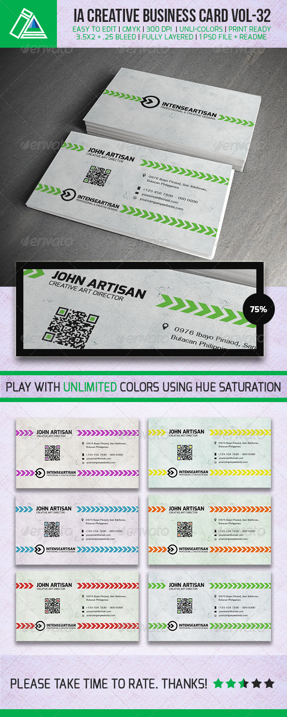 GraphicRiver IntenseArtisan BUSINESS CARD VOL.32 5382176