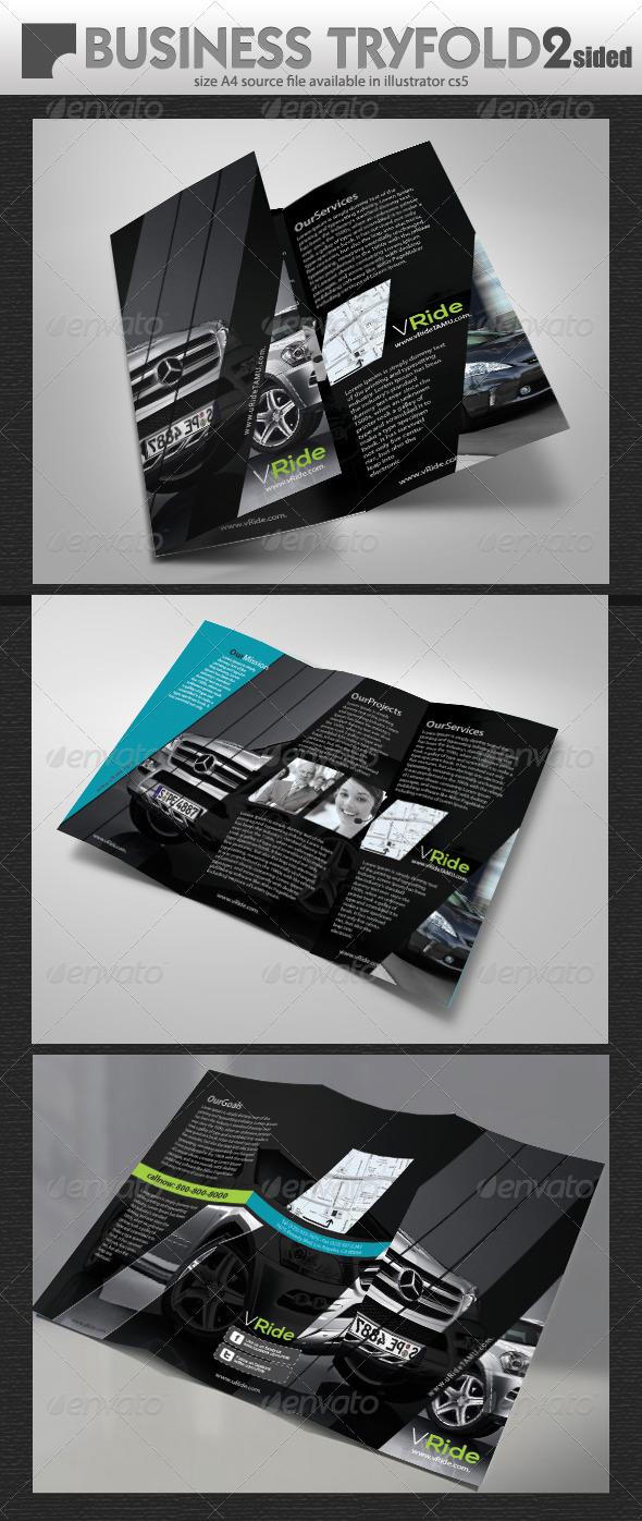 GraphicRiver Car Business Tri-Fold Brochure 5337415