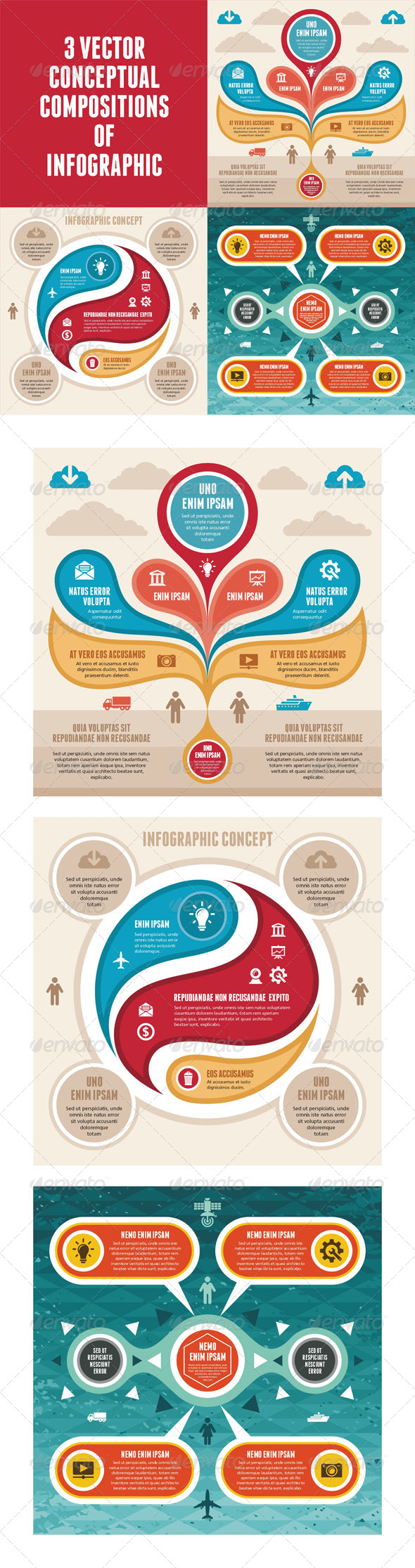 GraphicRiver Infographic Concept 3 Vector Scheme 5382304