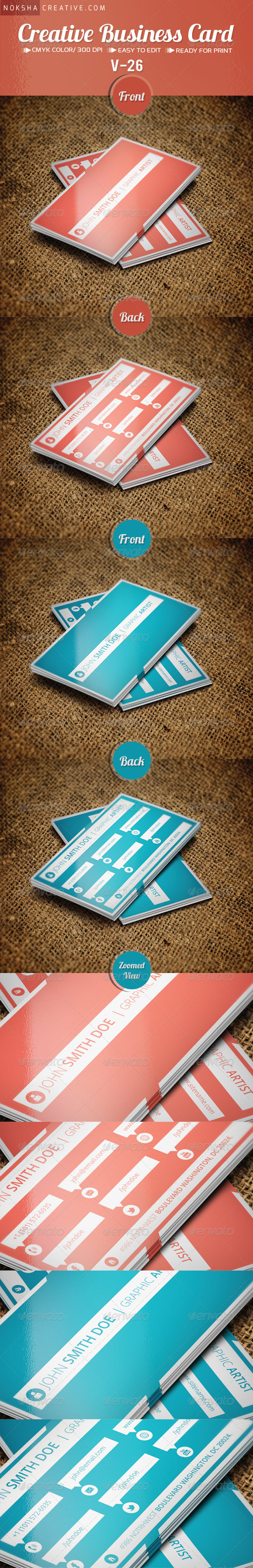 GraphicRiver Corporate Business Card V-26 5382408