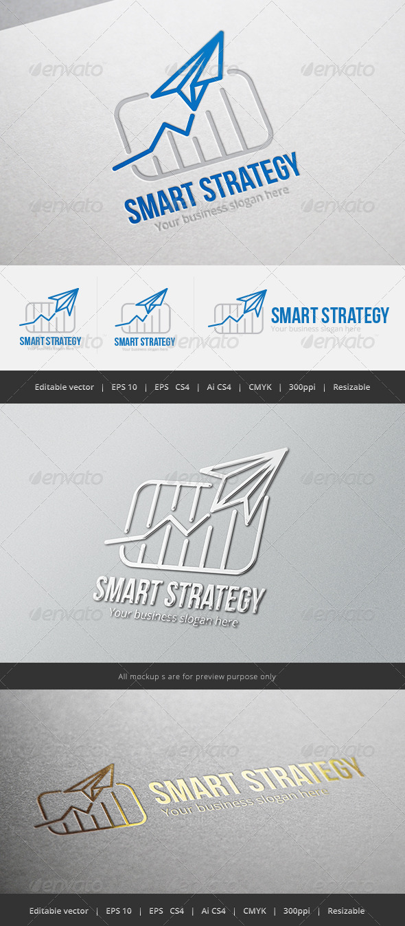 GraphicRiver Smart Strategy Logo 5382519