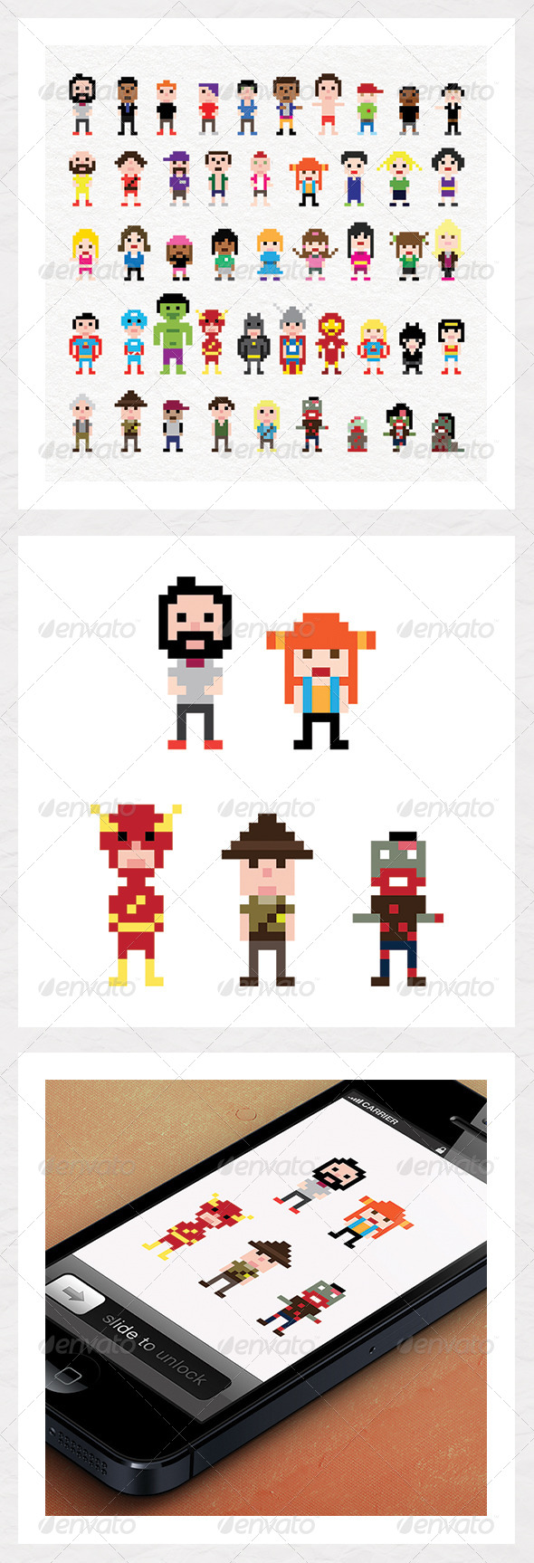 GraphicRiver Pixel Characters 5382533