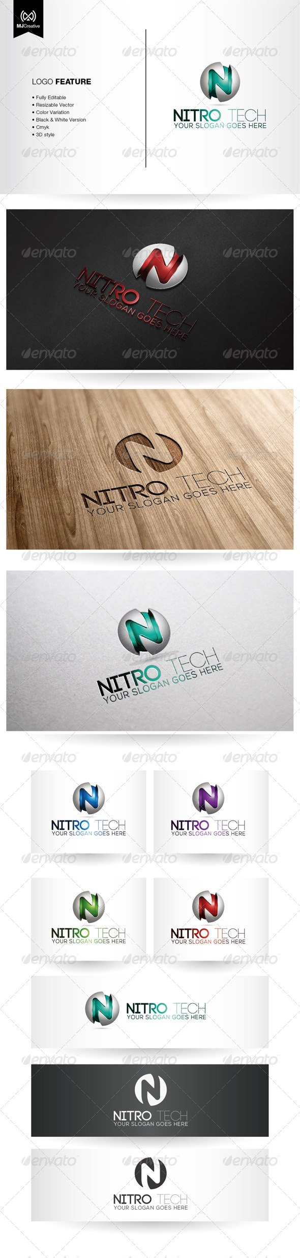 GraphicRiver N Tech Logo 5382577