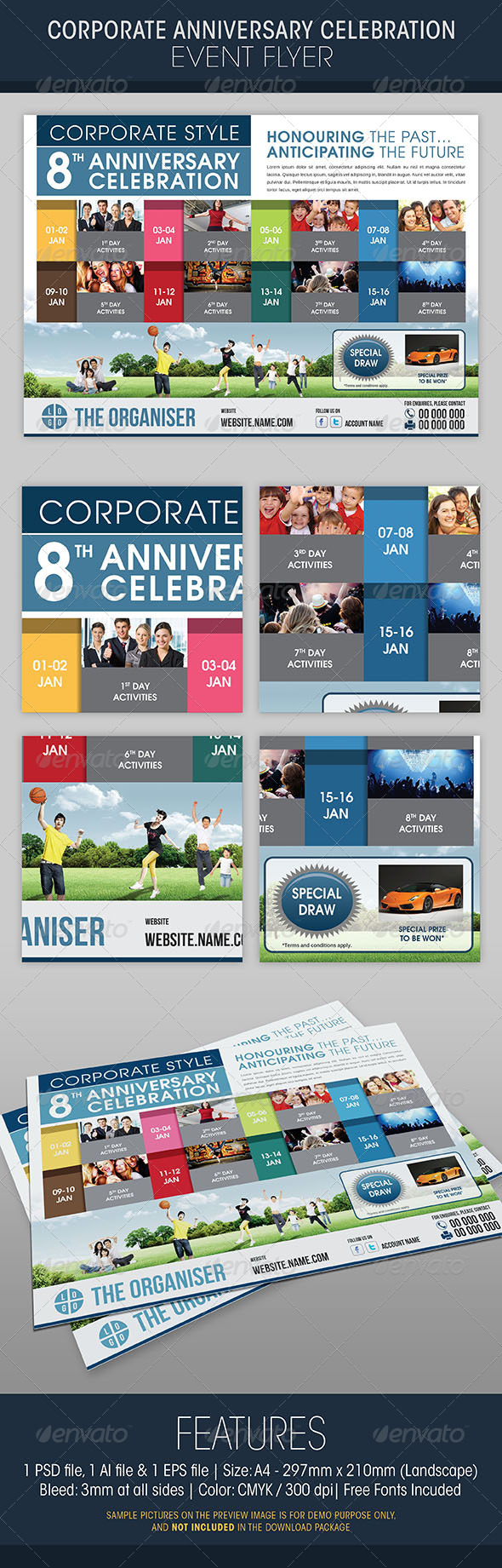 GraphicRiver Corporate Anniversary Celebration Event Flyer 5337743