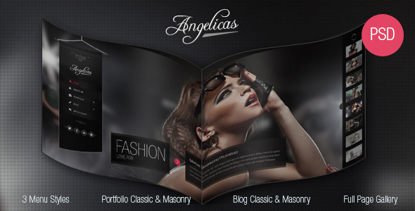 ThemeForest Angelicas Photography PSD Template 5382658