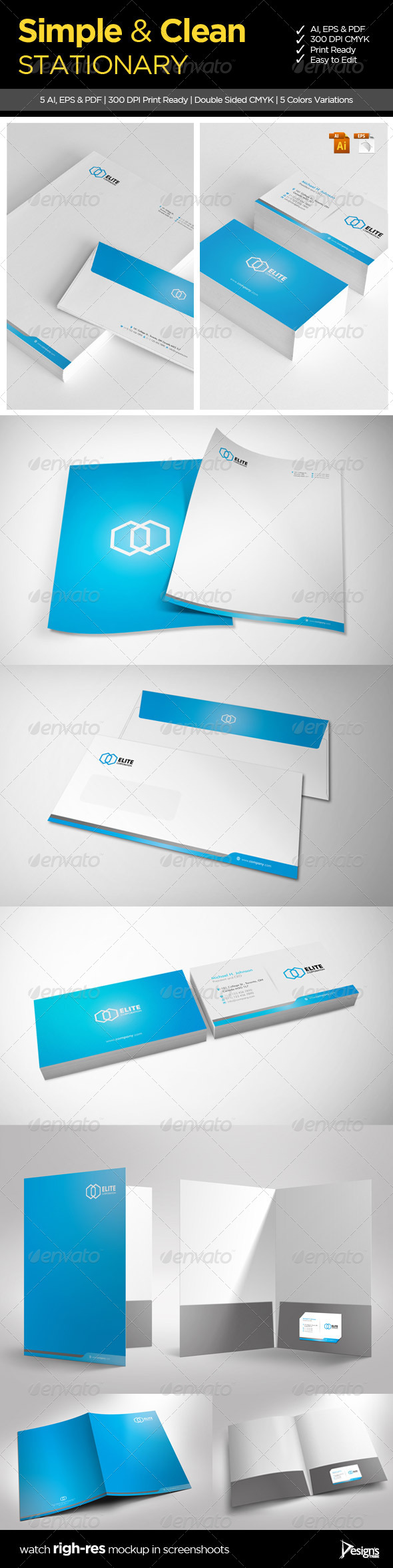 GraphicRiver Simple and Clean Stationary 1 5293981