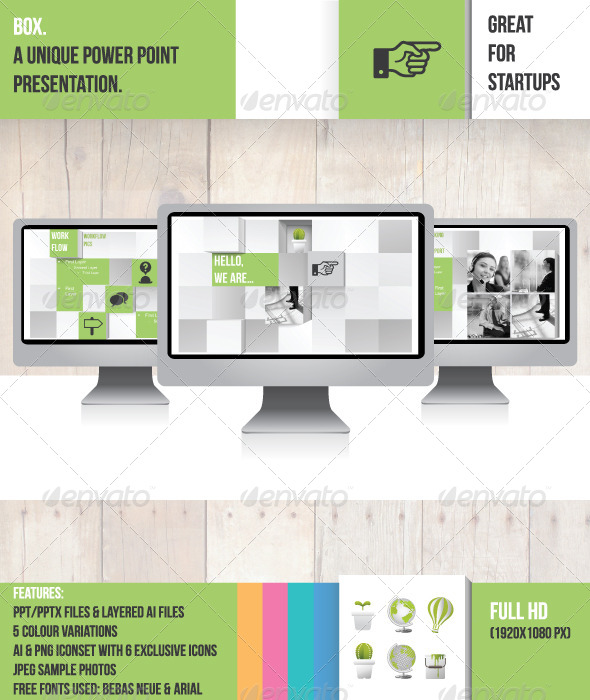 GraphicRiver Box Power Point Presentation 4870264