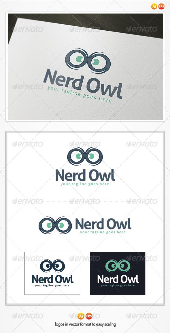 GraphicRiver Nerd Owl Logo 5383099