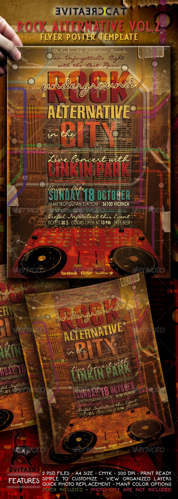 Rock Alternative Flyer/Poster Vol. 2 - Events Flyers