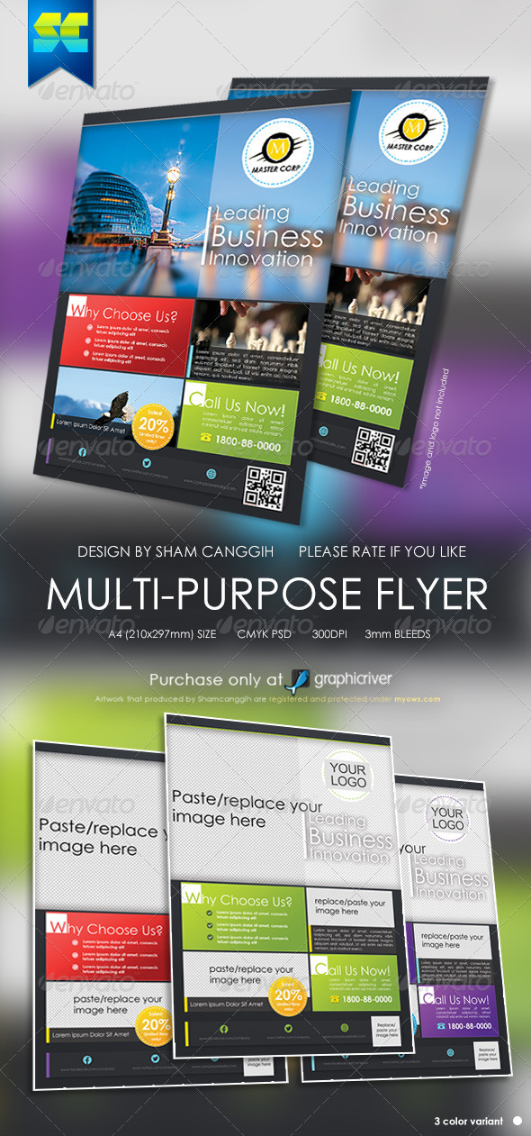 GraphicRiver Modern Multi Purpose Corporate Flyer 5383298