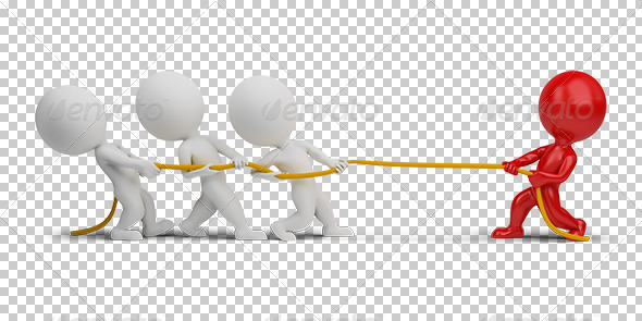GraphicRiver 3D small people rope pulling 5383303