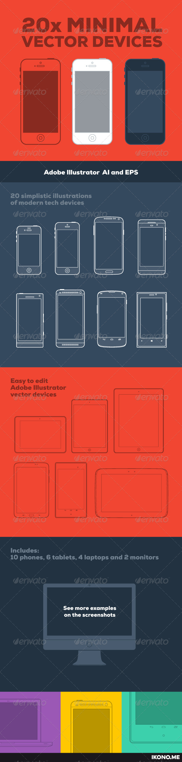 GraphicRiver 20 Minimal Vector Devices 5383321