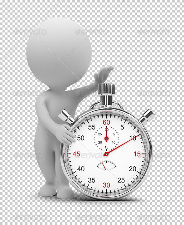 GraphicRiver 3D small people stopwatch 5383463