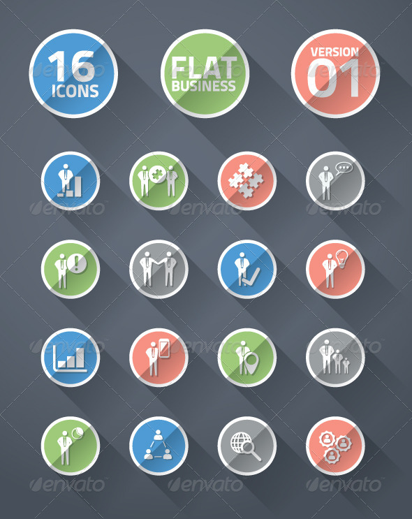 GraphicRiver Flat business icons 01 5383669