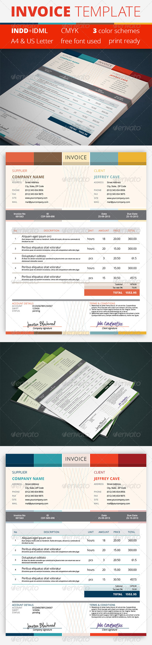 GraphicRiver Invoice Template 5383872