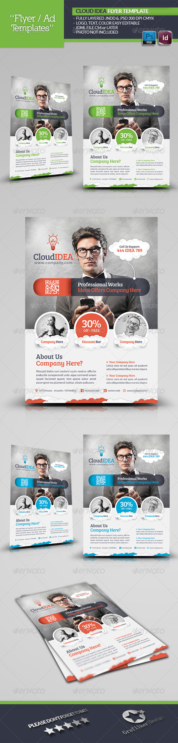 GraphicRiver Cloud Idea Flyer Template 5383924