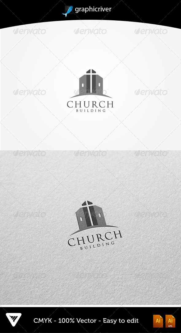 GraphicRiver Church Building Logo 5383928