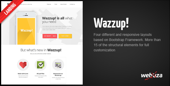 Wazzup – Bootstrap Responsive Landing Page