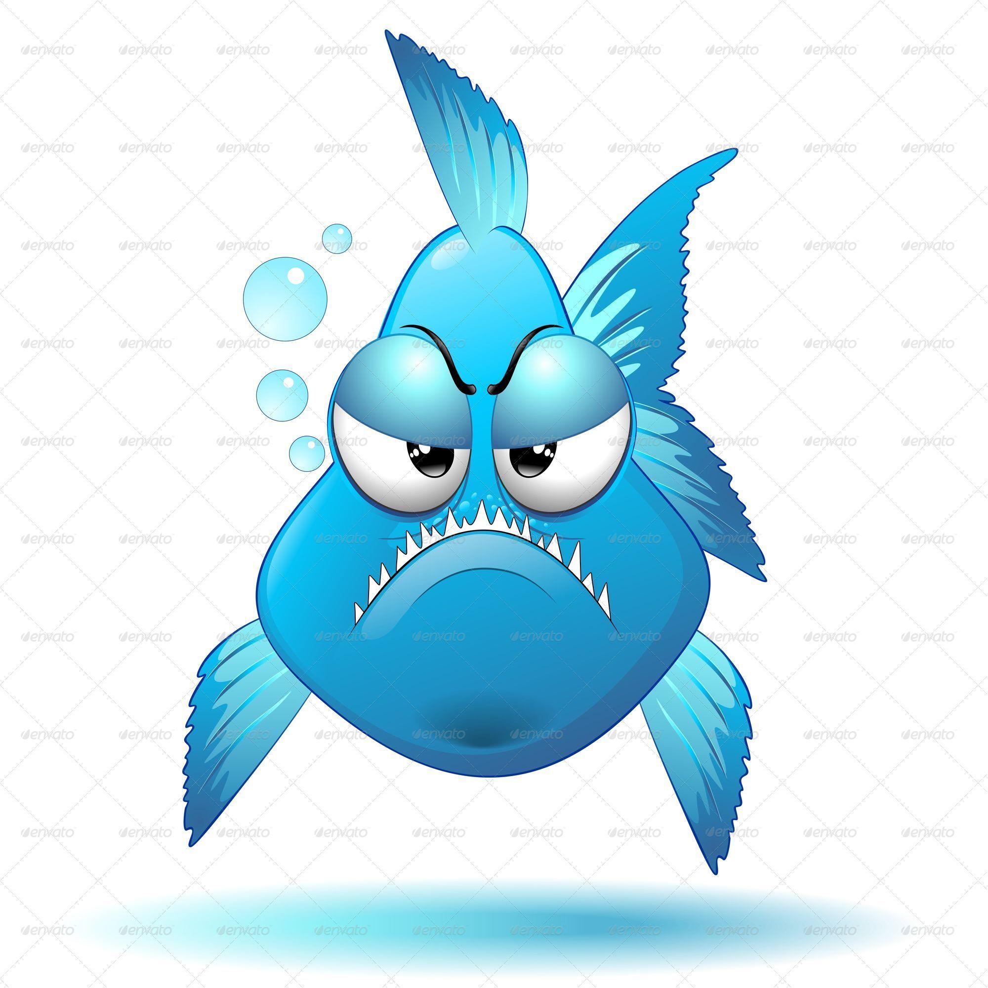 Grumpy Fish Cartoon By Bluedarkat