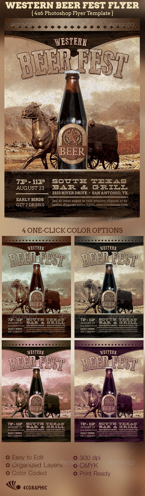 GraphicRiver Western Beer Fest Flyer Template 5181951