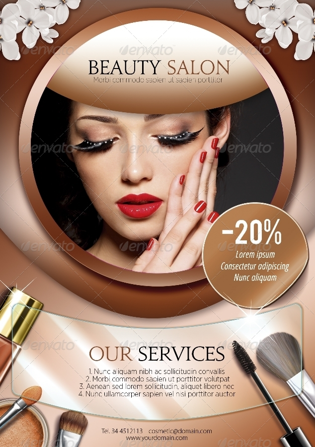A5 beauty salon flyer 3 in 1 by enem graphicriver for A 1 beauty salon