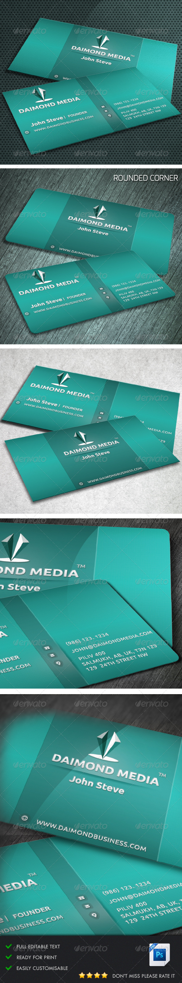 GraphicRiver Corporate Business Card v1 5384409