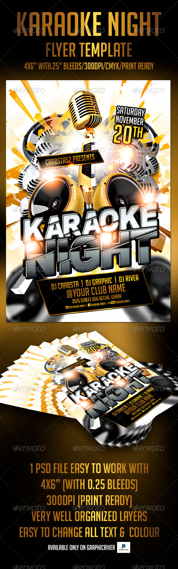 GraphicRiver Karaoke Night Flyer Template 5384581