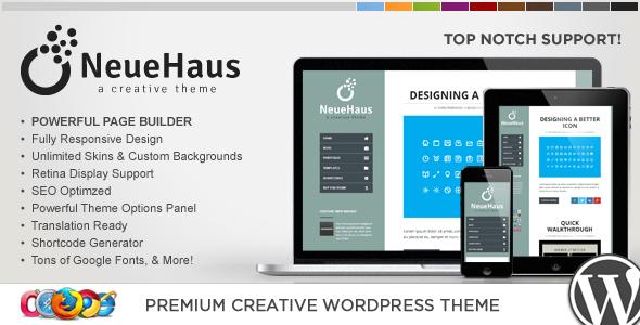 WP Neuehaus Responsive Creative WordPress Theme