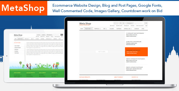 ThemeForest Meta Shop HTML5 E-Commerce Website Design 5244226