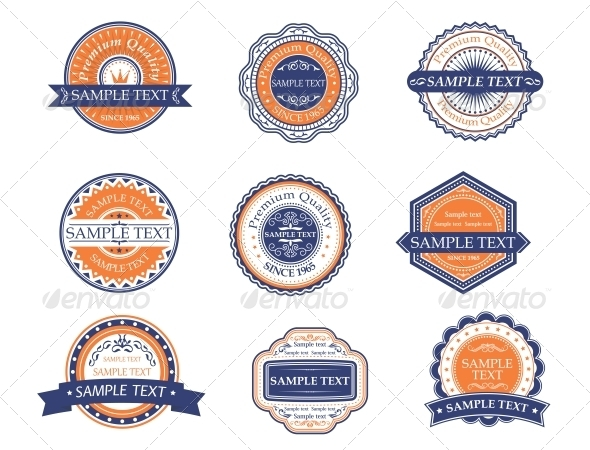 GraphicRiver Retro Labels and Frames 5385843