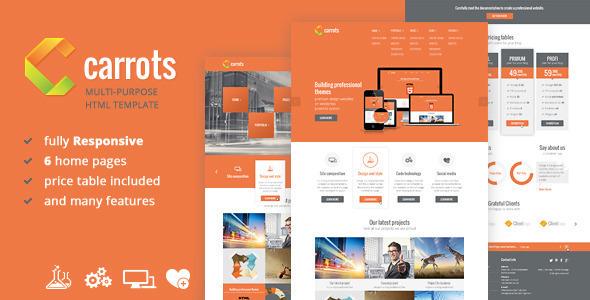 ThemeForest Carrots Multipurpose Responsive HTML Template 5359717